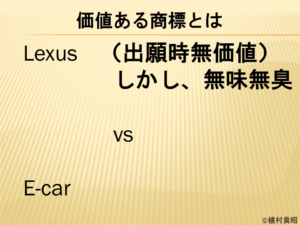 LexusとE-carでどちらが価値がある商標のか。どのような商標を中小企業・ベンチャー企業が選ぶべきなのか。について